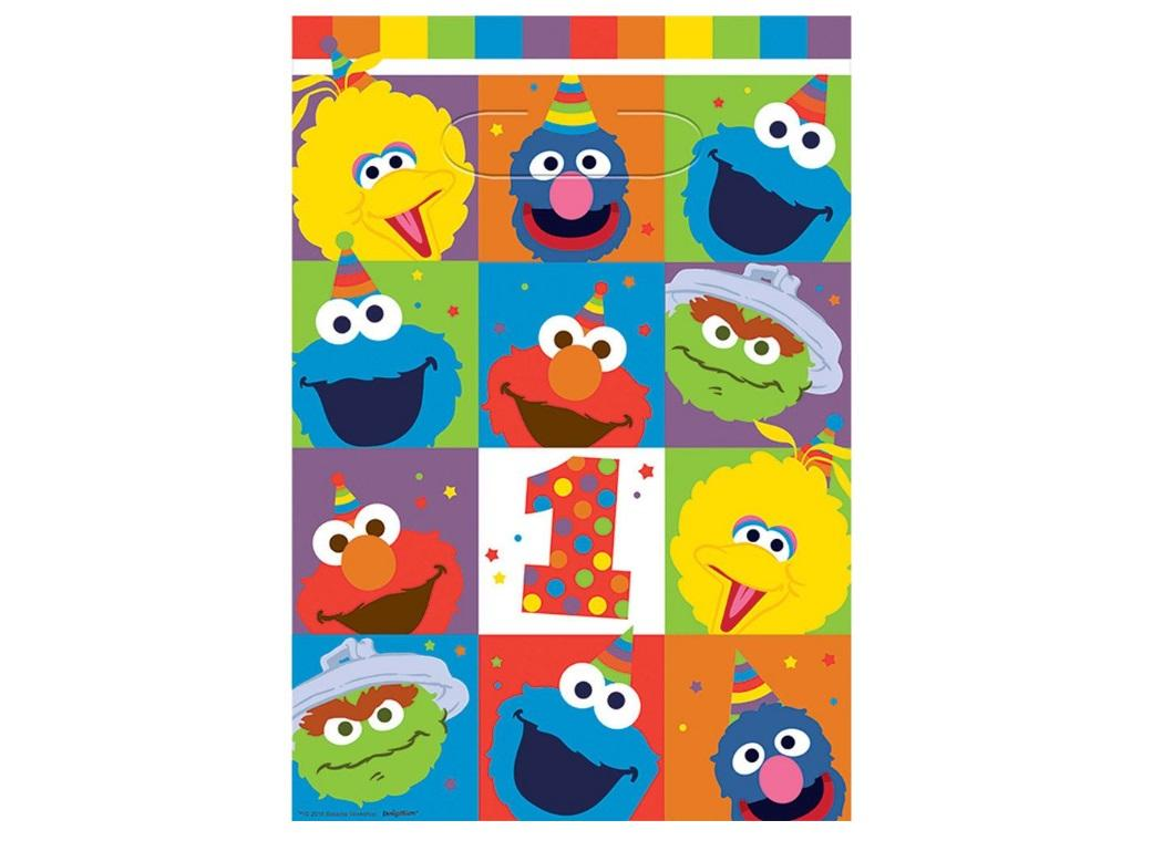 Elmo Turns One Loot Bags 8pk