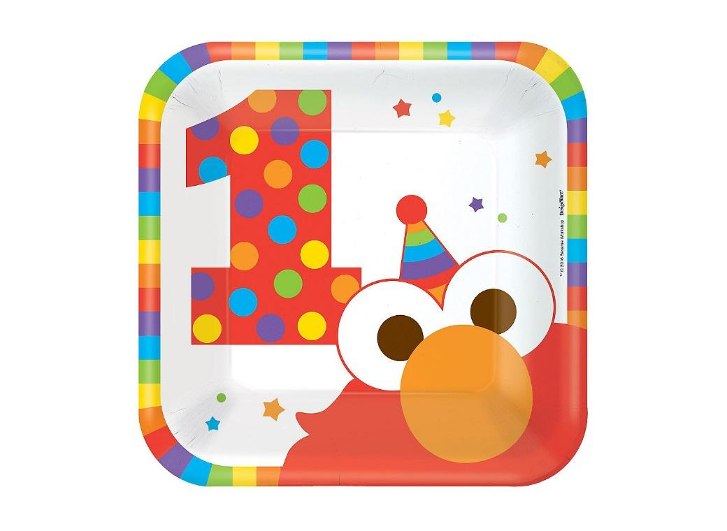 Elmo Turns One Lunch Plates 8pk