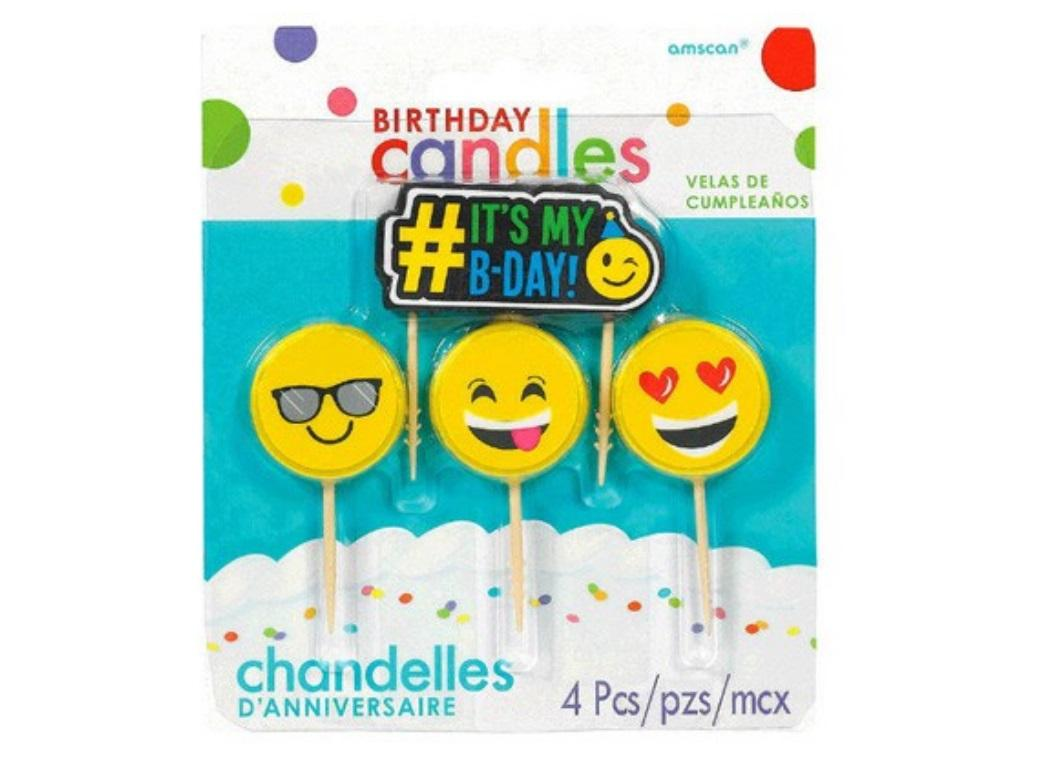 Emoji Birthday Candle Set
