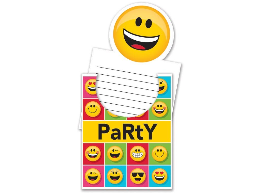 Emoji Invitations 8pk