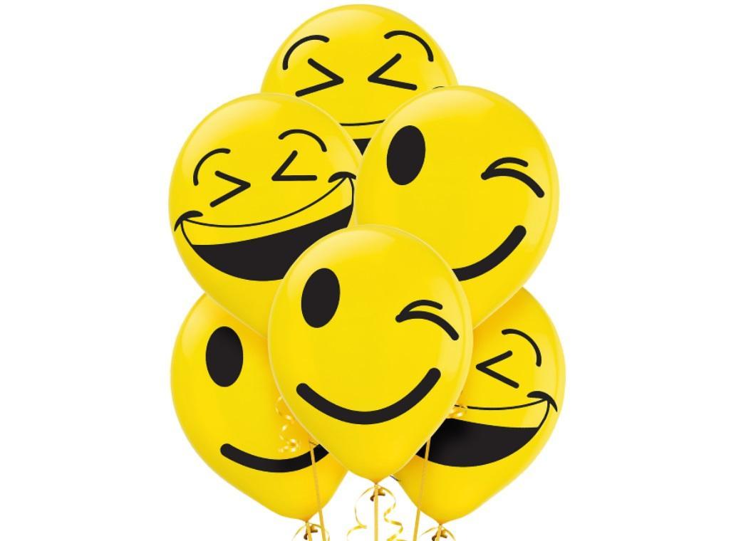 Emoji Balloons 6pk