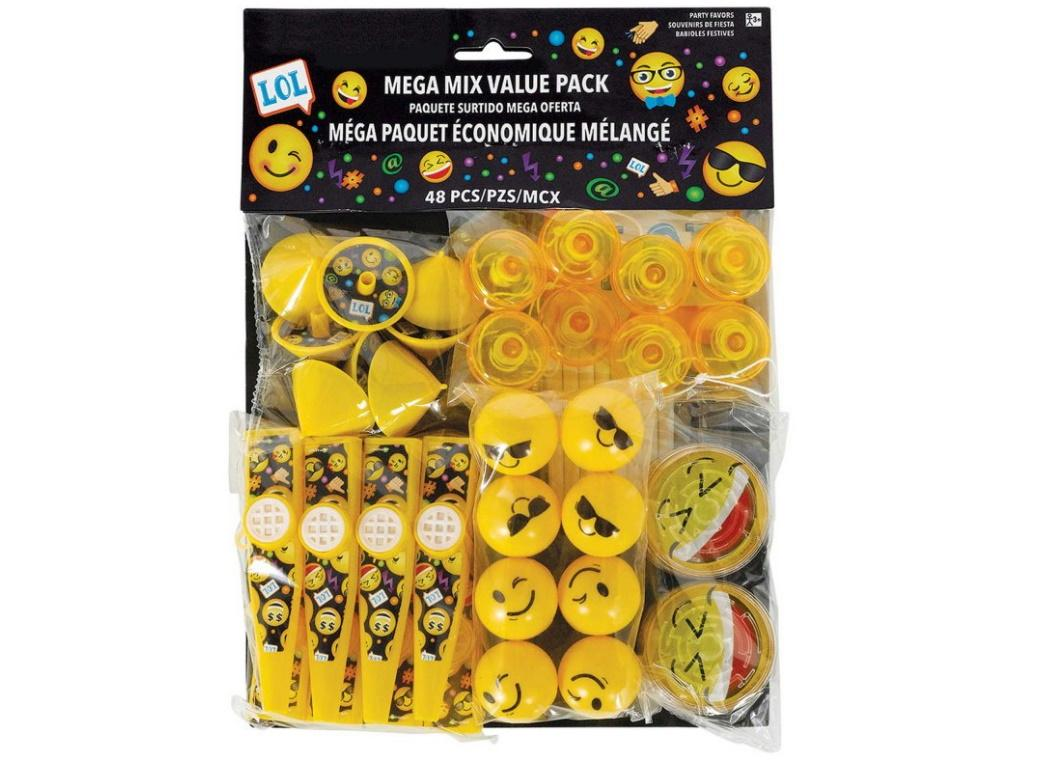 Emoji 48pce Favour Pack
