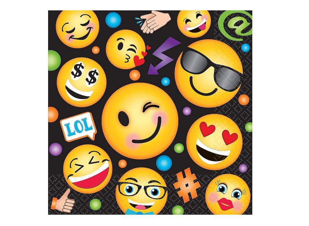 Emoji LOL Lunch Napkins 16pk