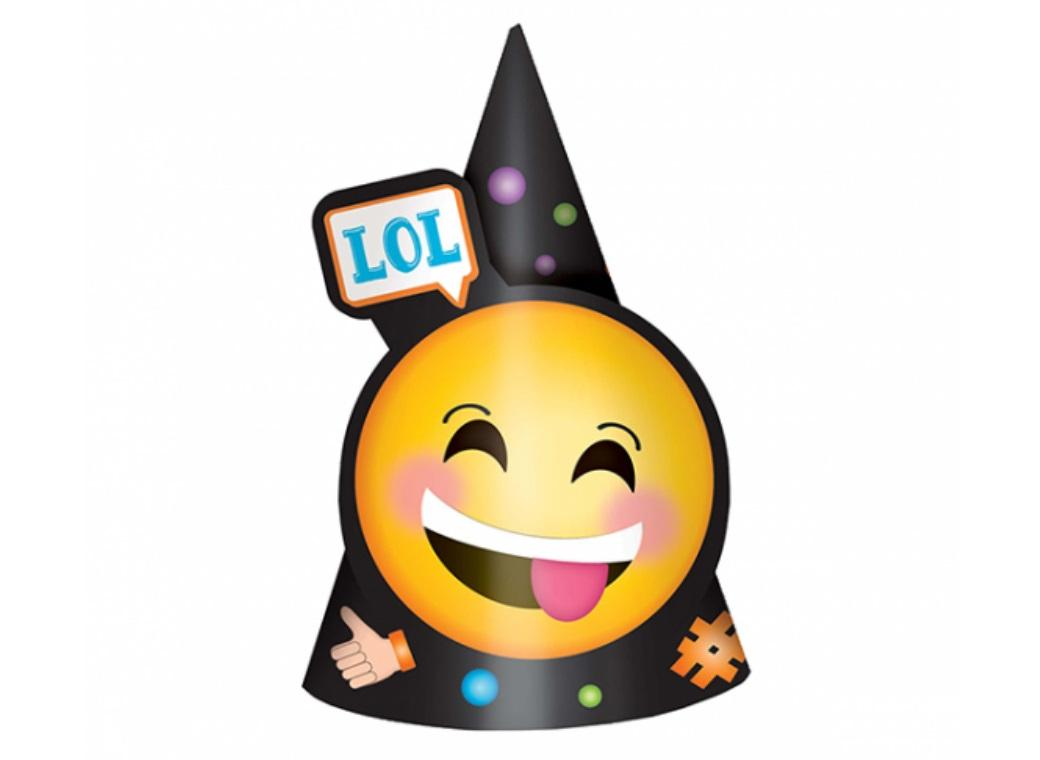Emoji LOL Party Hats 8pk