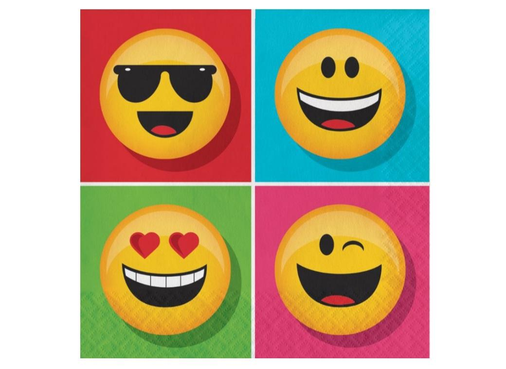 Emoji Lunch Napkins 16pk