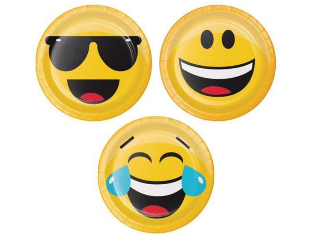 Emoji Lunch Plates 8pk