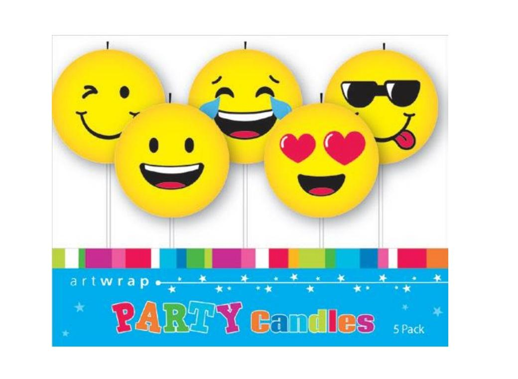 Emoji Party Candles 5pk