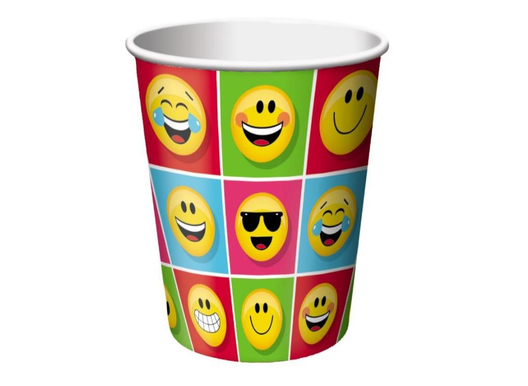 Emoji Party Cups 8pk