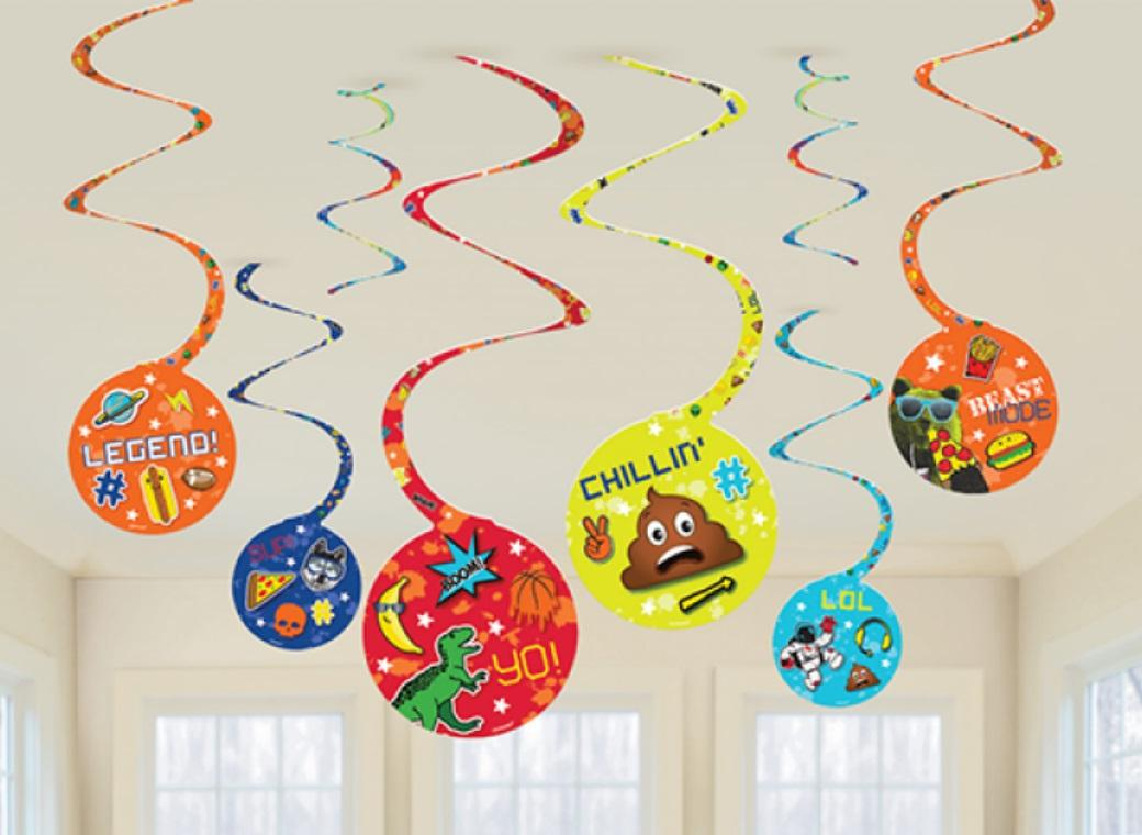 Epic Party Hanging Swirl Decorations