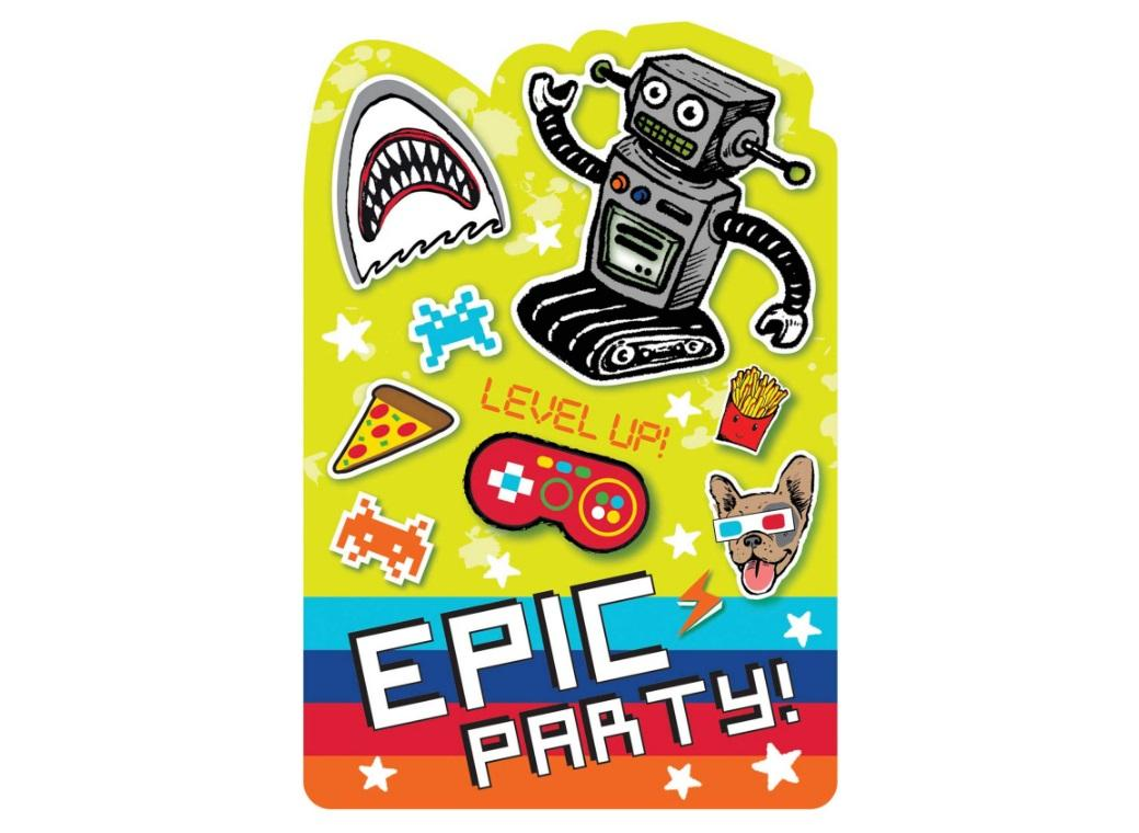 Epic Party Invites 8pk