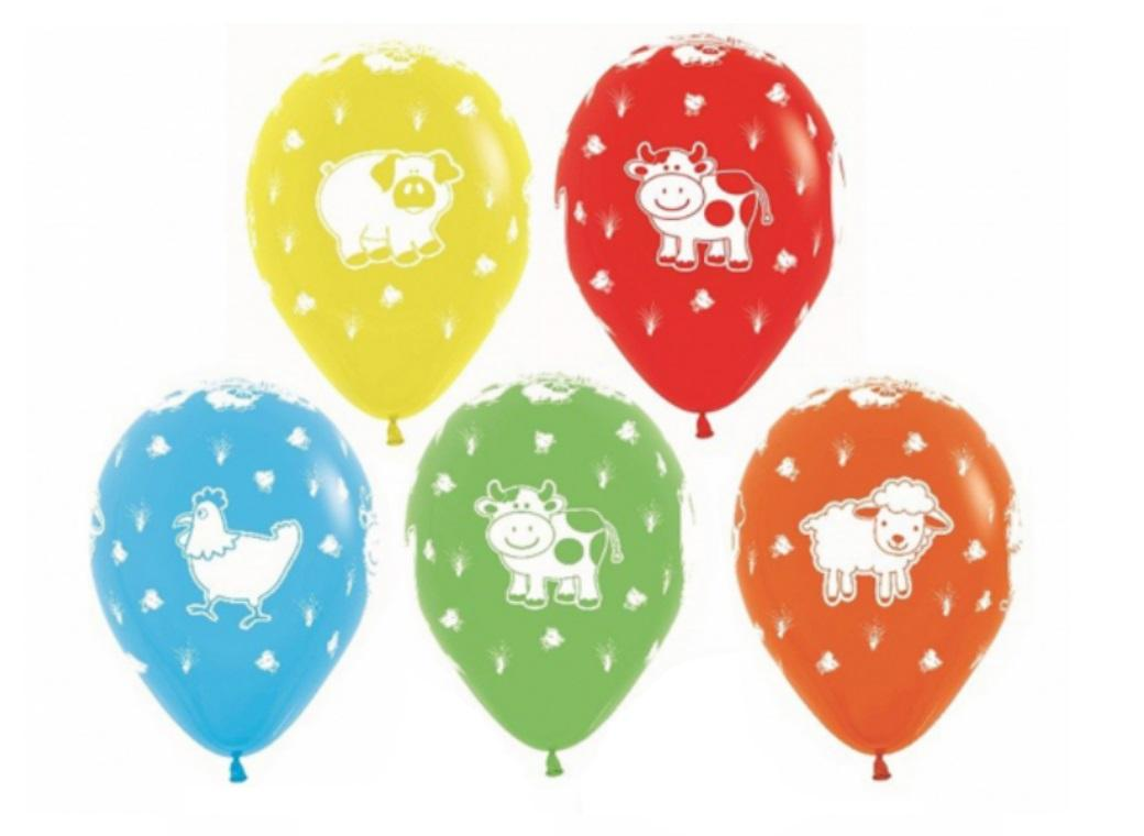 Farm Animals Balloons 12pk