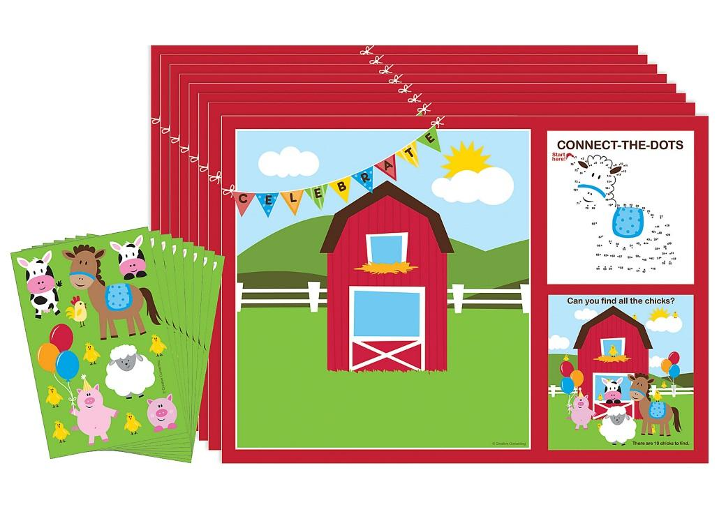 Farmhouse Fun Activity Placemats 8pk