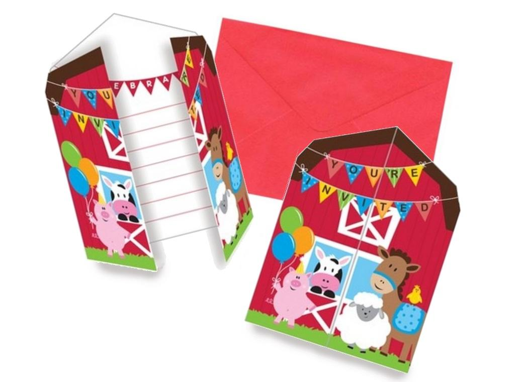 Farmhouse Fun Invitations 8pk