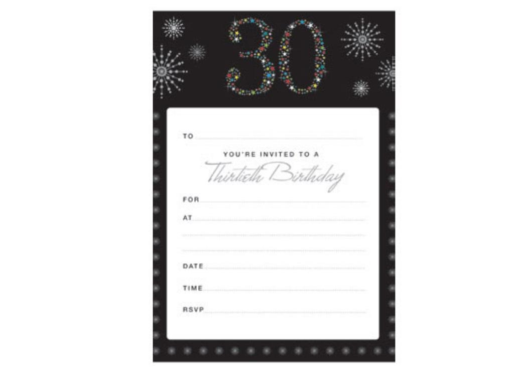 30th Birthday Invitations - Fiesta