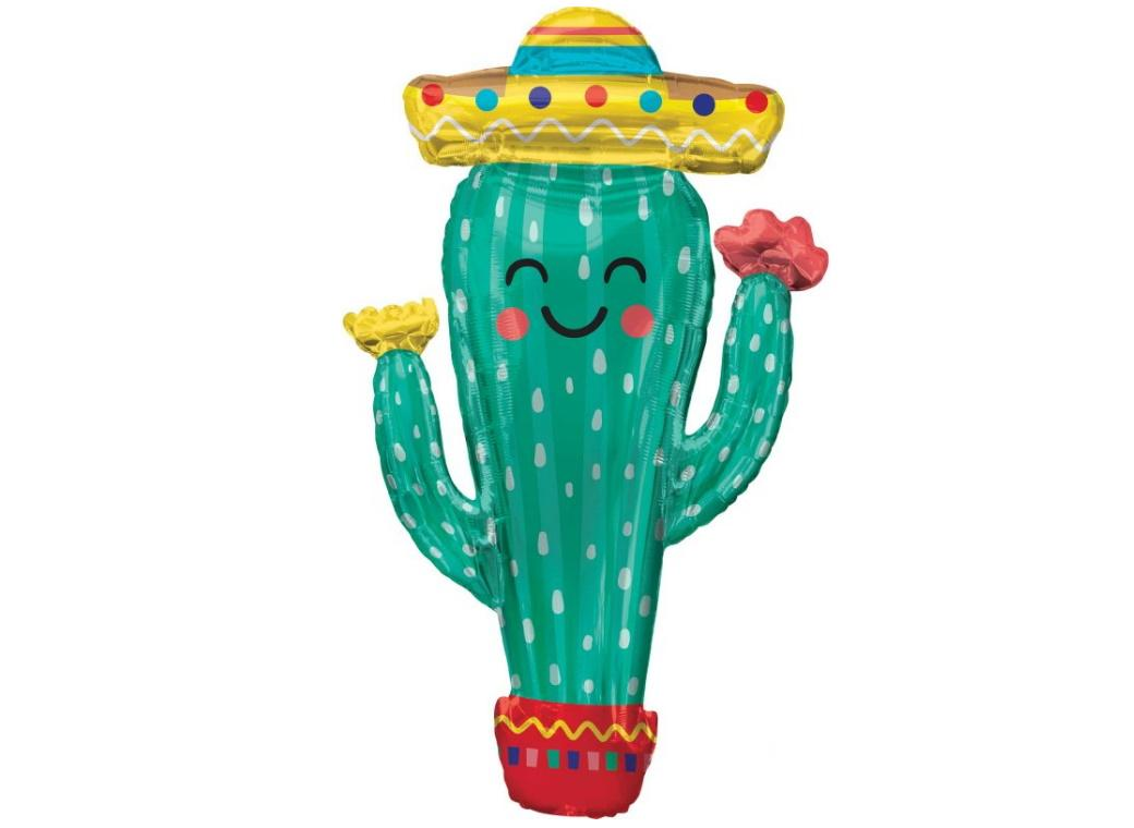 Fiesta Cactus SuperShape Foil Balloon