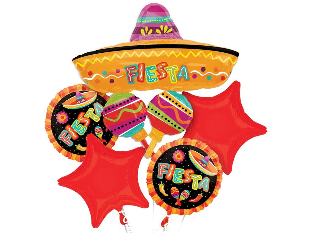 Fiesta Fun Foil Balloon Bouquet