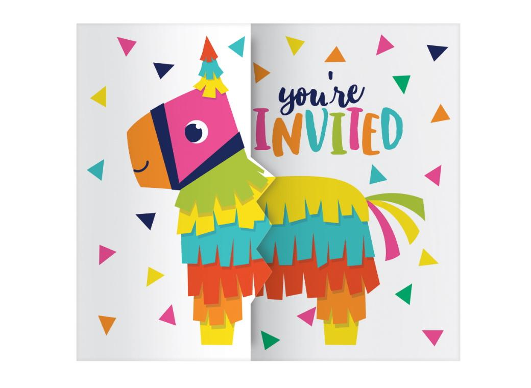 Fiesta Fun Invitations 8pk