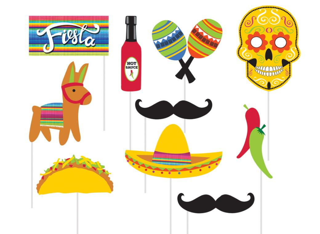 Fiesta Fun Photo Props