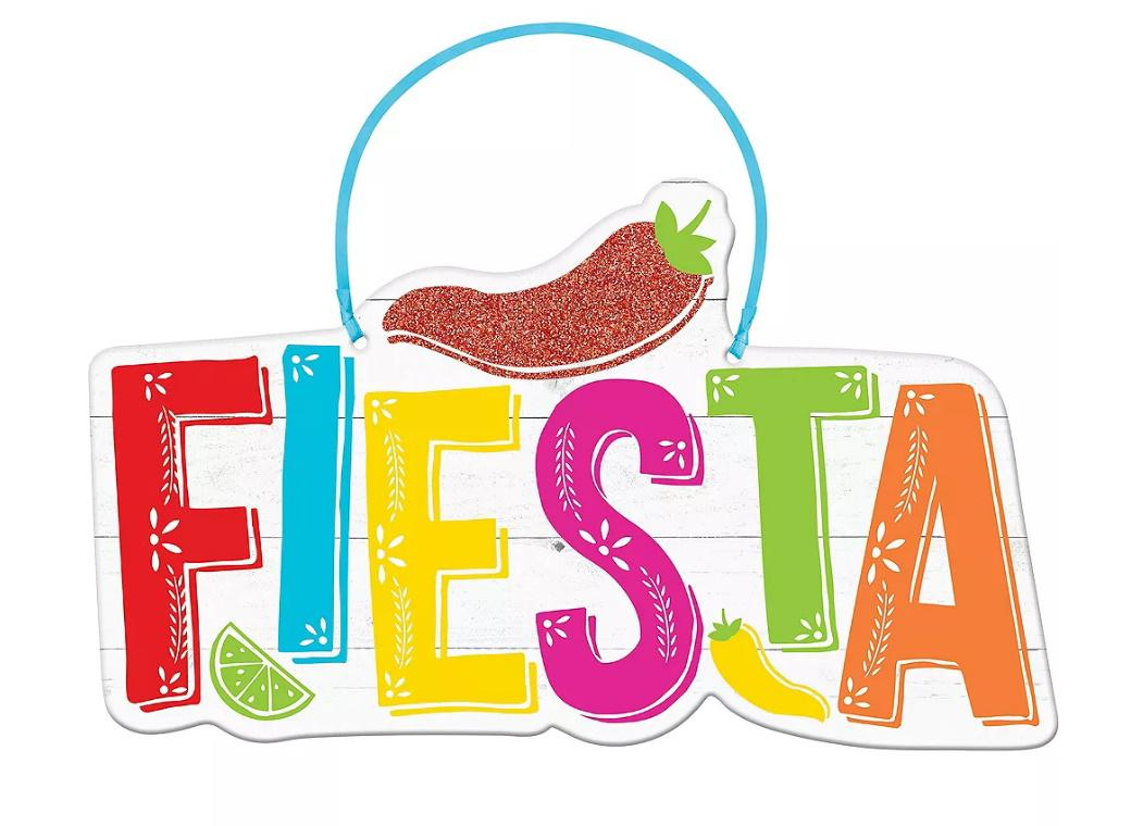 Fiesta Hanging MDF Sign