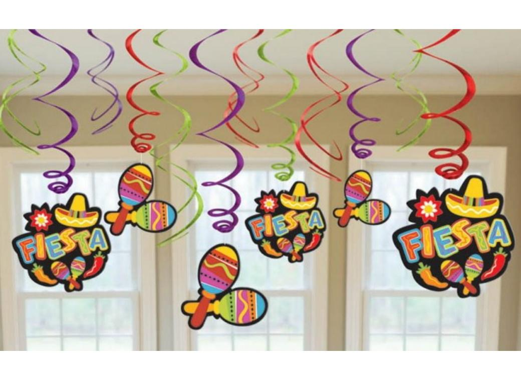 Fiesta Hanging Swirl Decorations