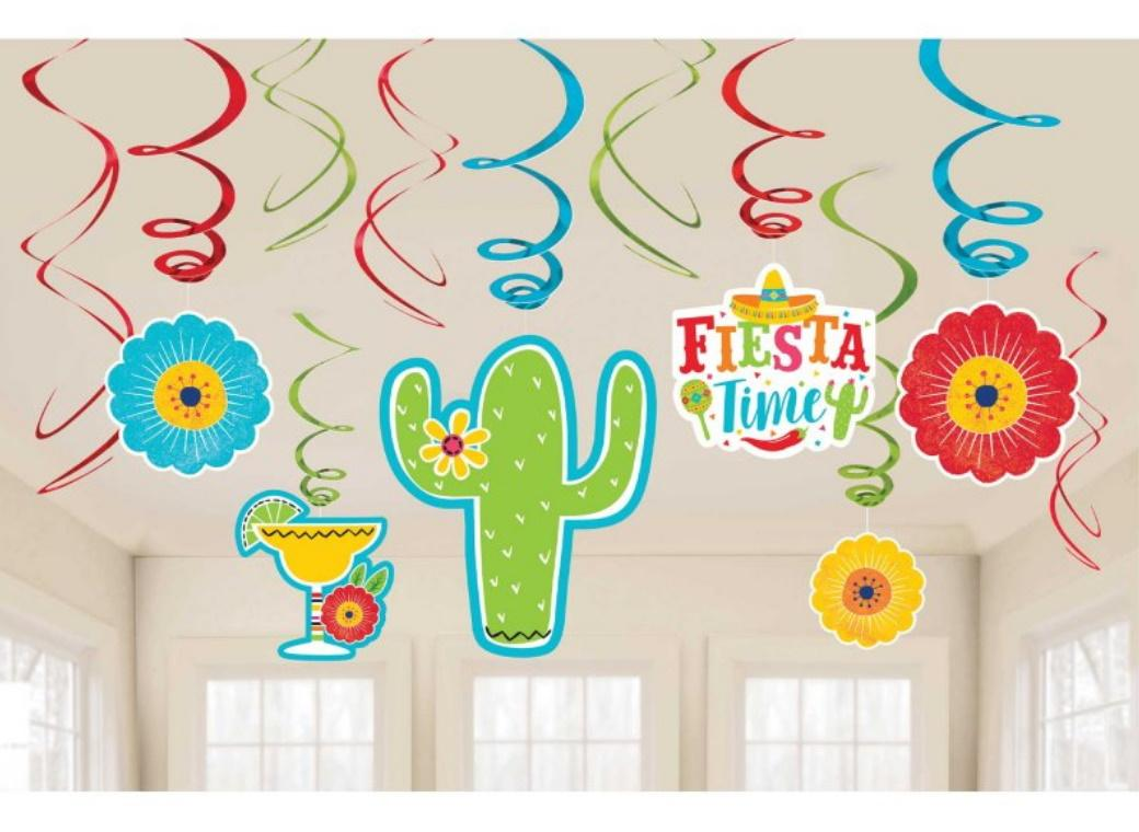 Fiesta Time Hanging Swirl Decorations