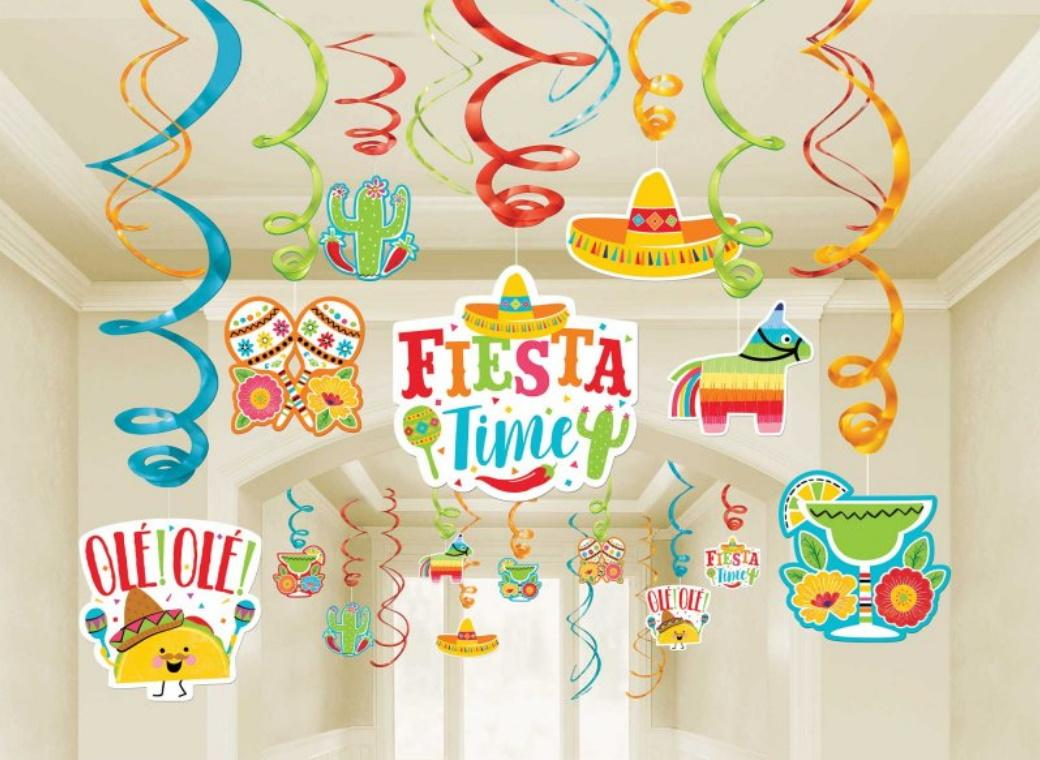 Fiesta Time Hanging Swirl Decorations Mega Pack
