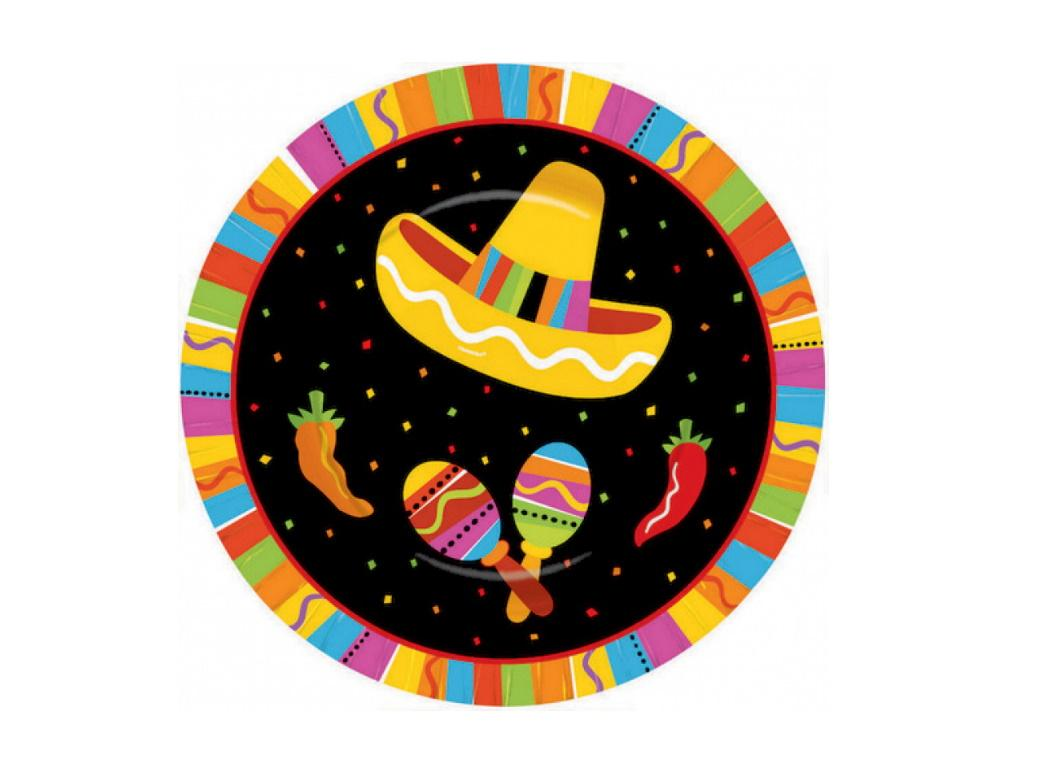 Fiesta Lunch Plates 8pk