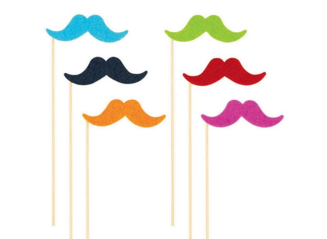 Fiesta Moustache Photo Props 6pk