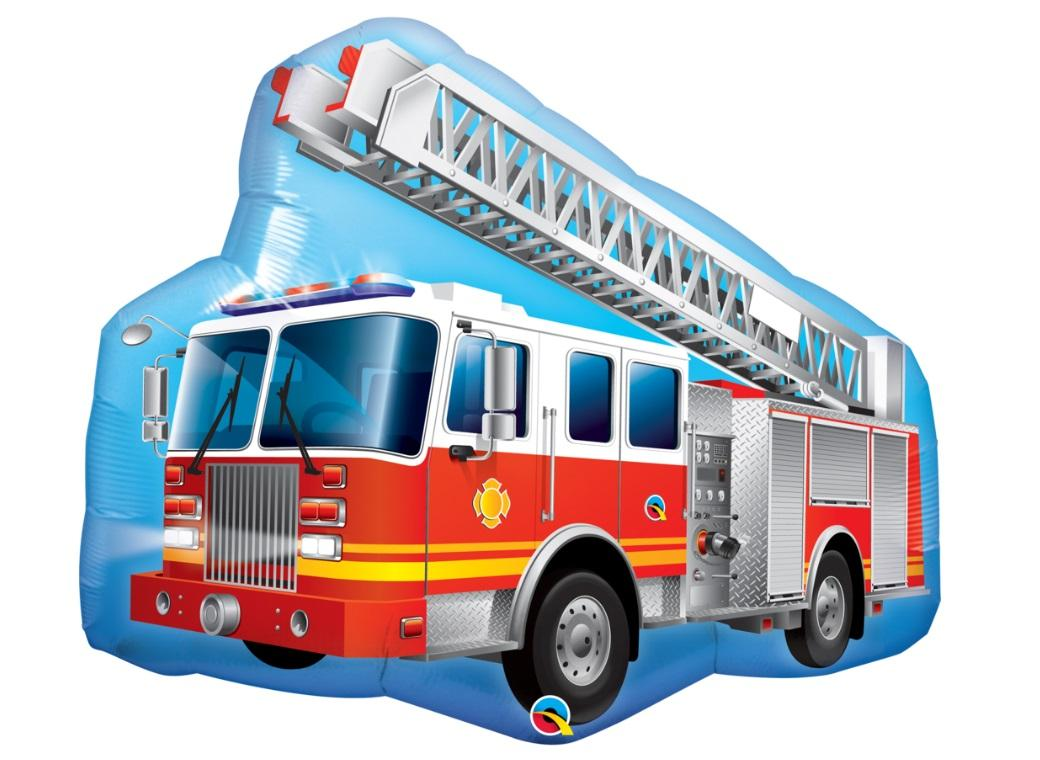 Fire Truck Supershape Foil Balloon