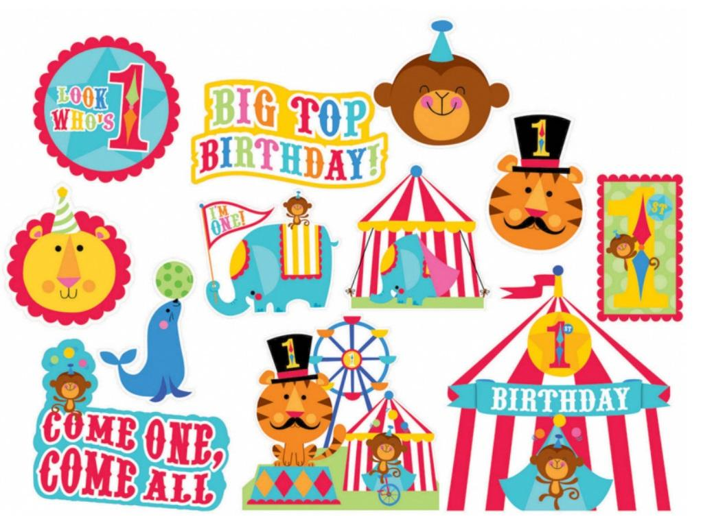 Fisher Price 1st Birthday Circus Cutouts