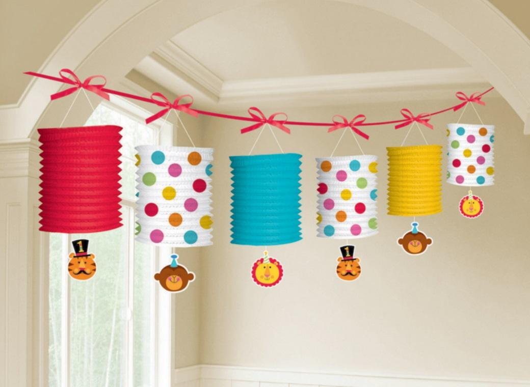 Fisher Price 1st Birthday Circus Lantern Garland