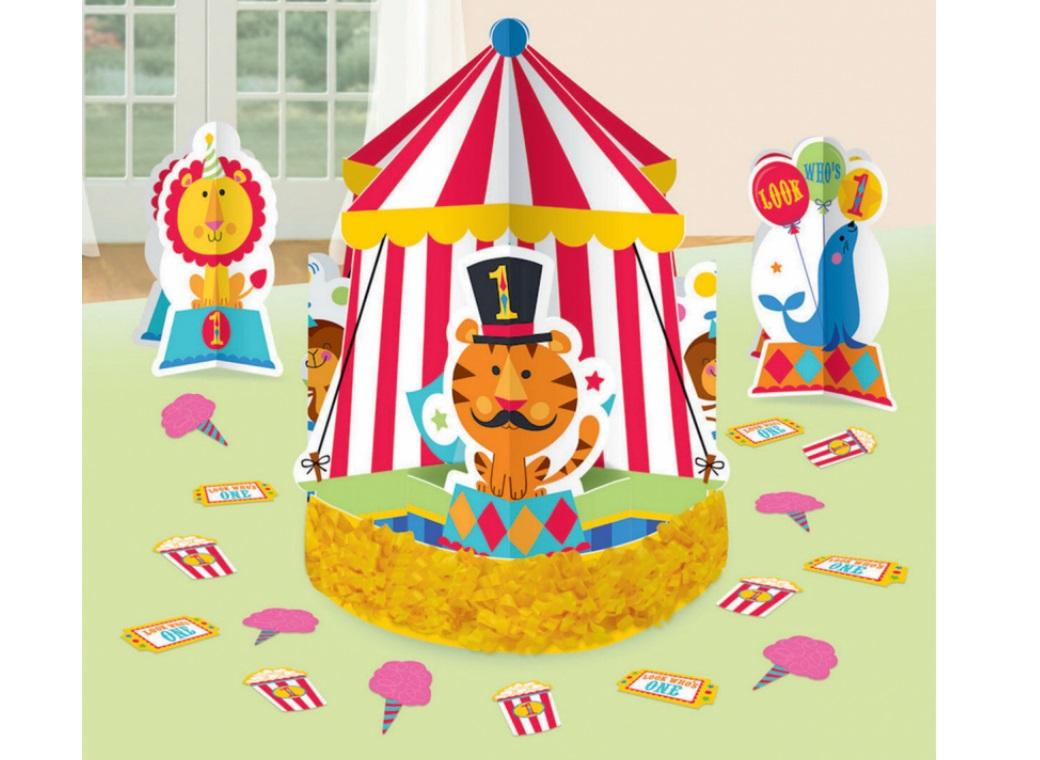 Fisher Price 1st Birthday Circus Table Decorating Kit