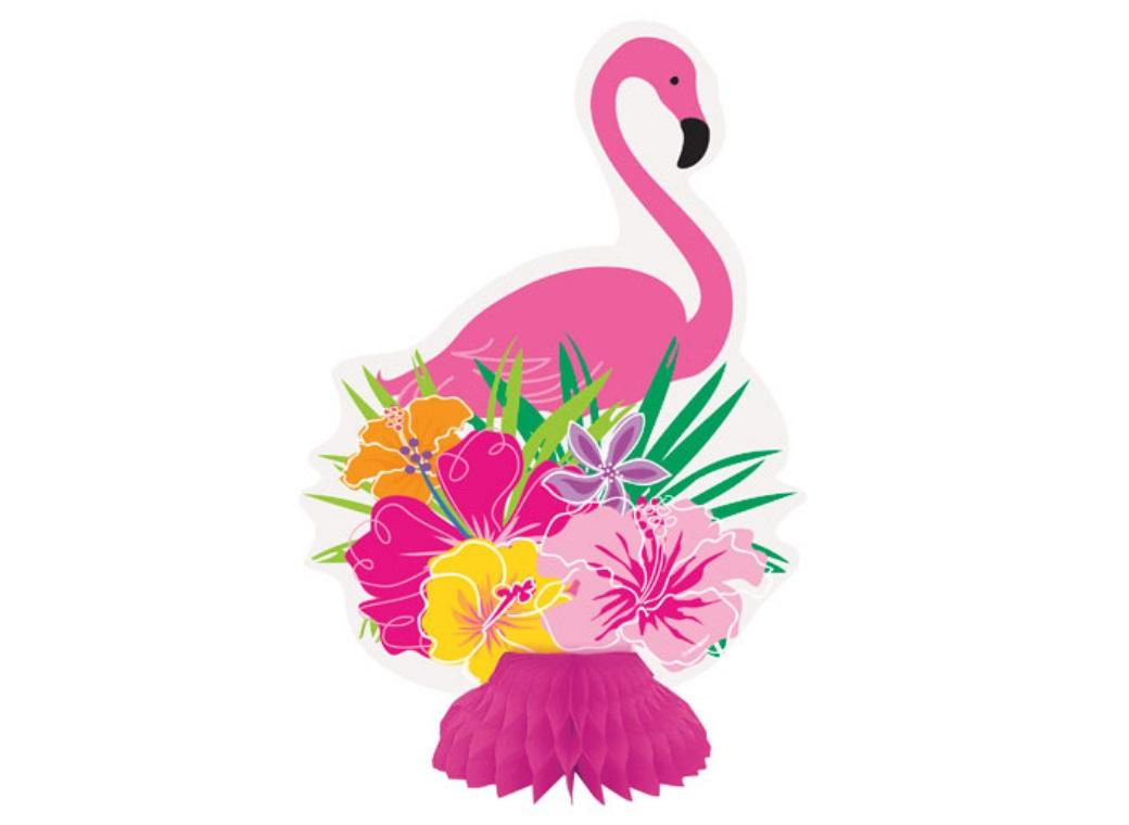 Flamingo Honeycomb Decorations 3pk