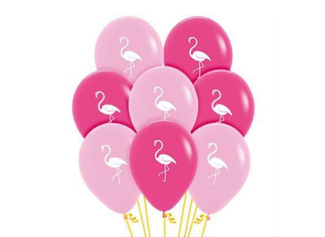 Flamingos Fashion Balloons 12pk