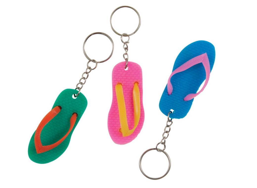 Flip Flop Key Chains 6pk