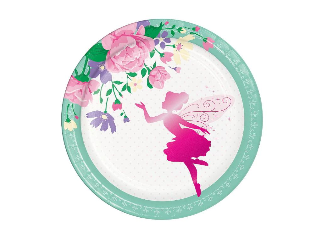 Floral Fairy Lunch Plates 8pk