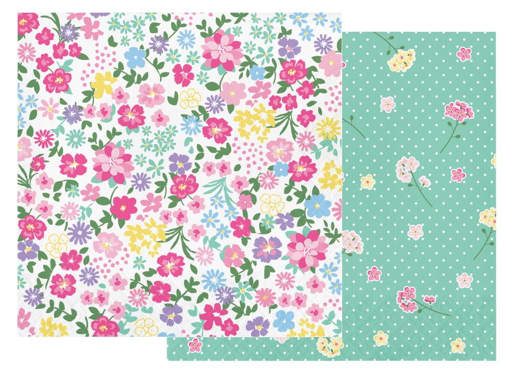 Floral Tea Party Lunch Napkins 16pk