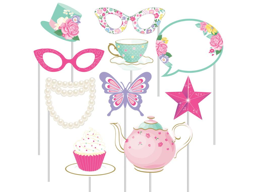 Floral Tea Party Photo Props