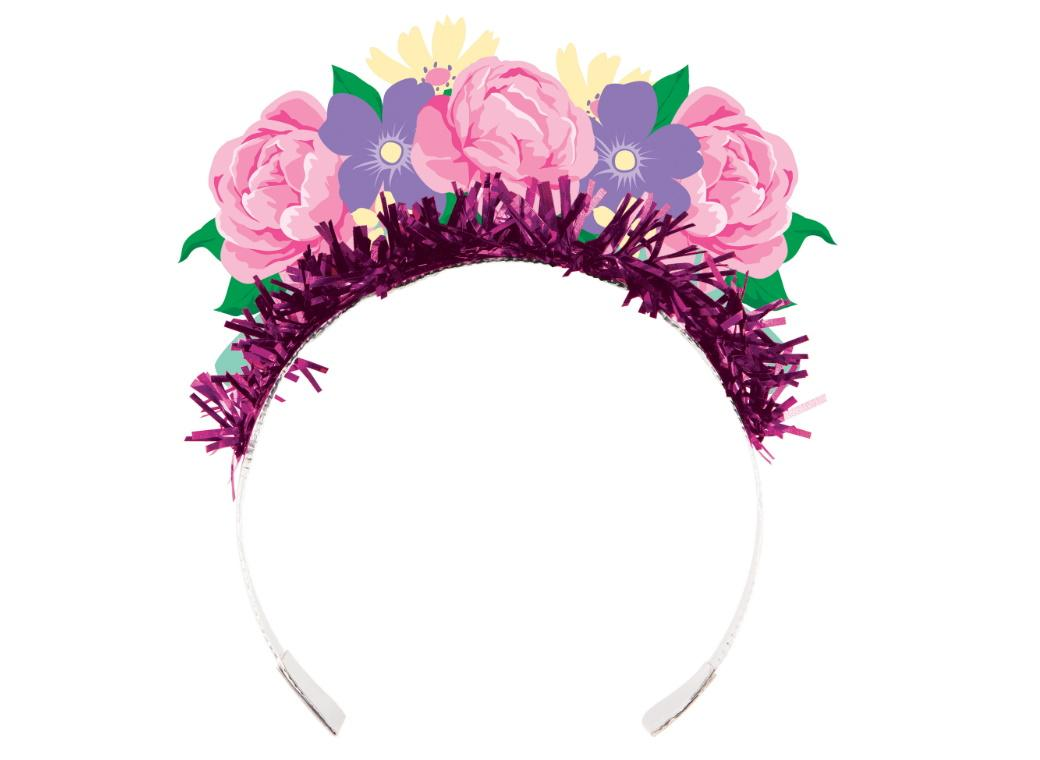 Floral Tea Party Tiaras 4pk