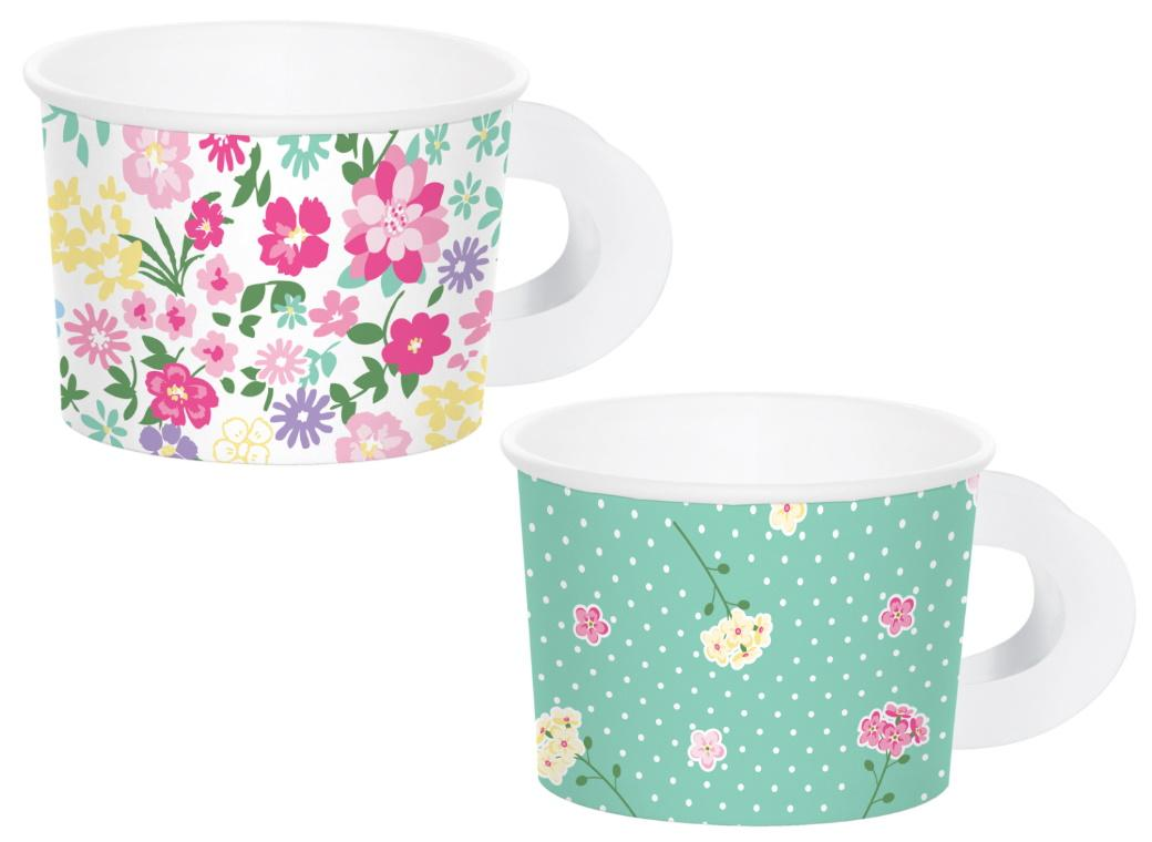Floral Tea Party Treat Cups 8pk