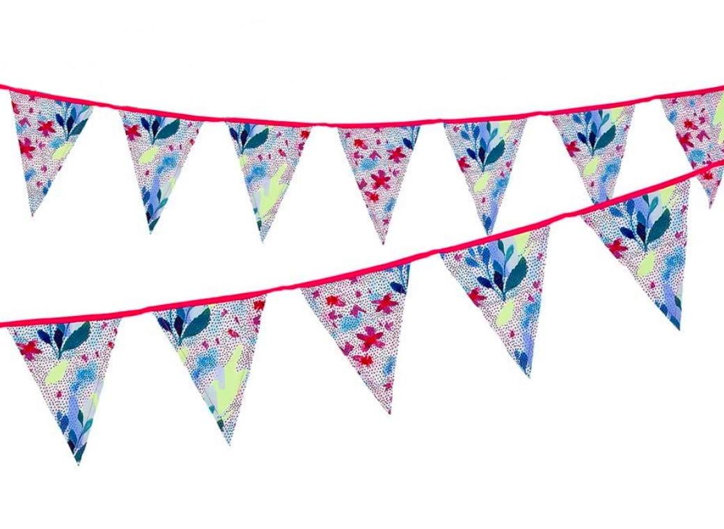 Fluoro Floral Fabric Bunting