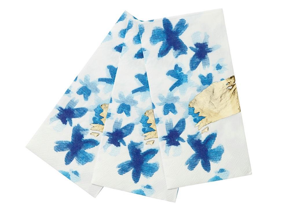 Fluro Floral Napkins 20pk