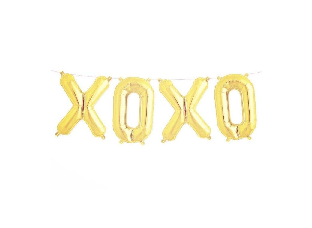 Foil Balloon Kit - Gold XOXO