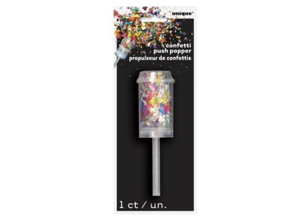 Foil Confetti Push Popper - Rainbow