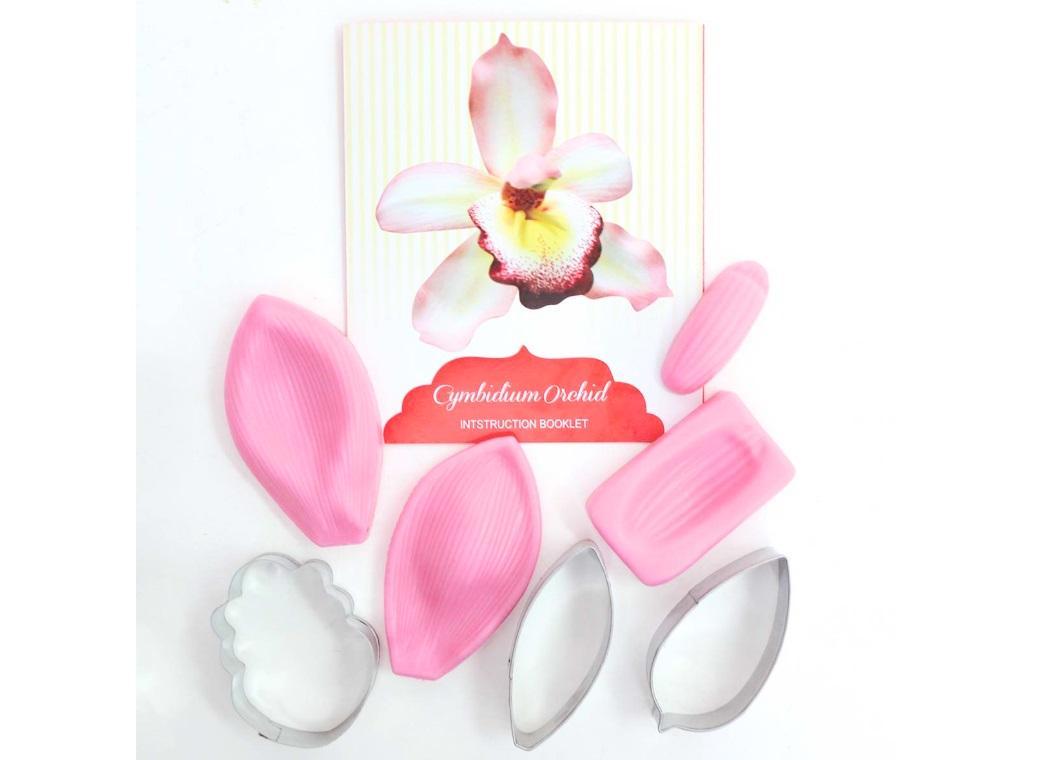 Fondant Cutter Set - Cymbidium Orchid