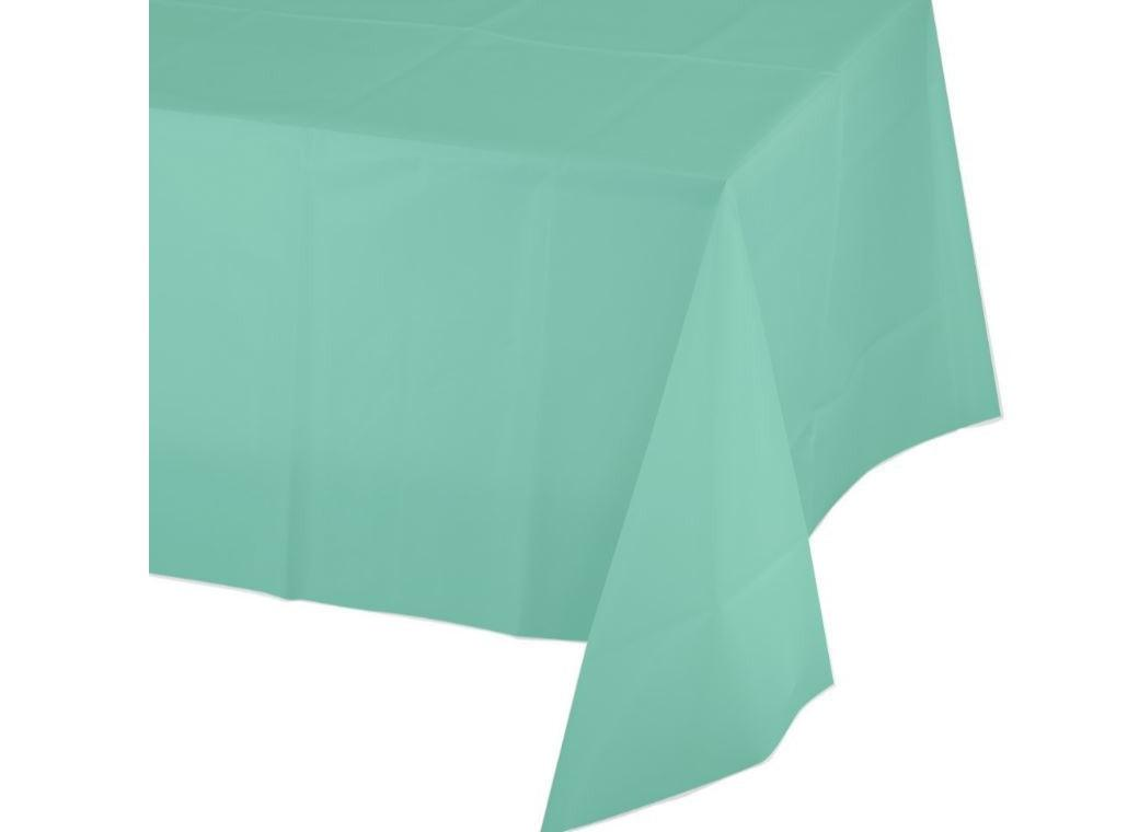 Fresh Mint Plastic Table Cloth