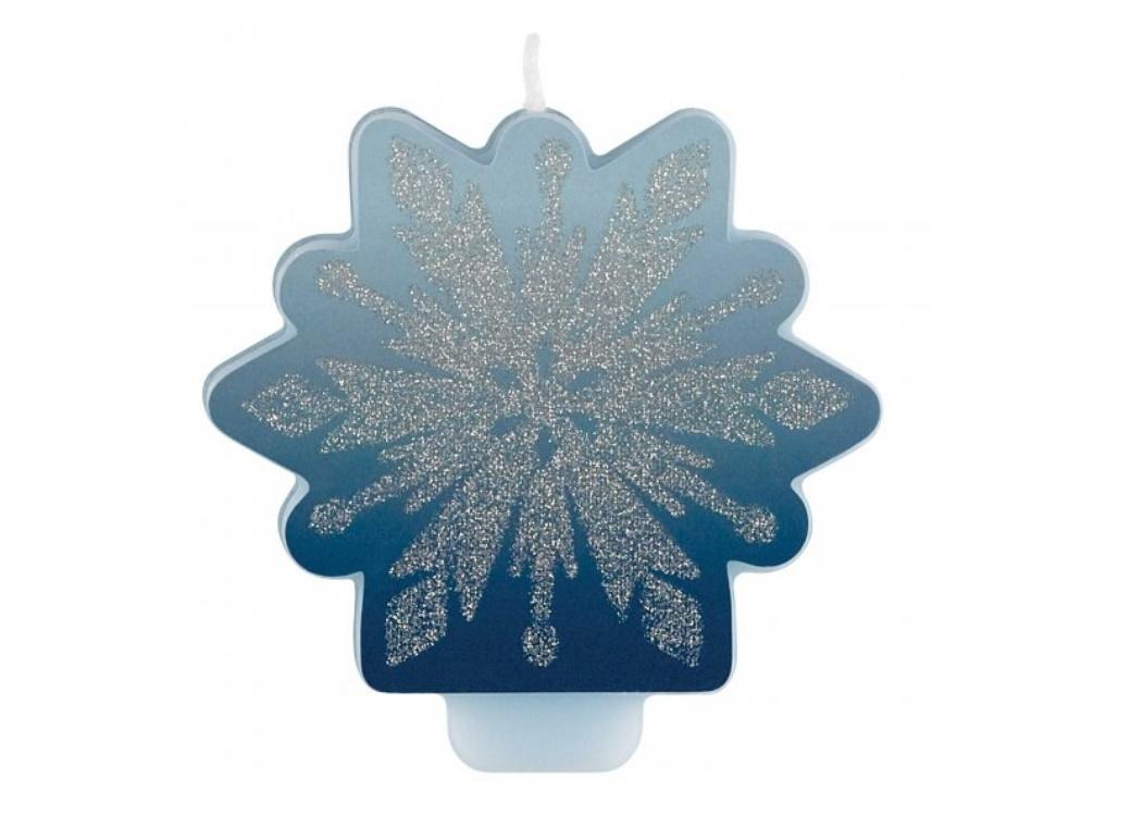 Frozen 2 Snowflake Glitter Candle