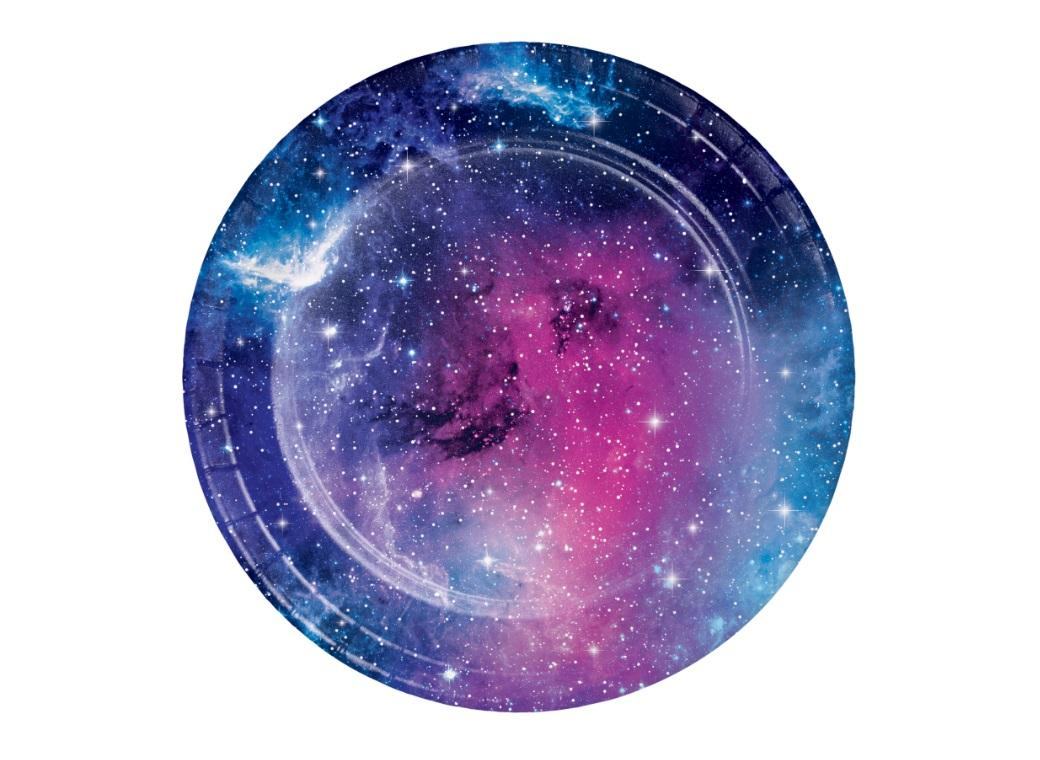 Galaxy Lunch Plates 8pk