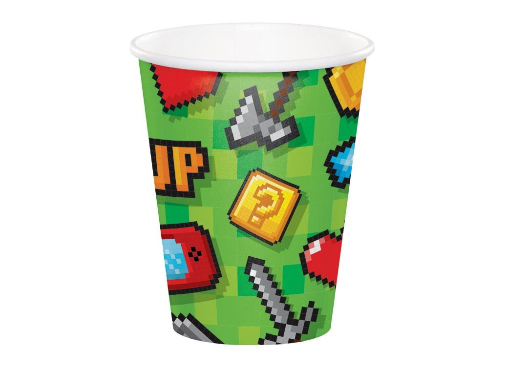 Gaming Party Cups 8pk