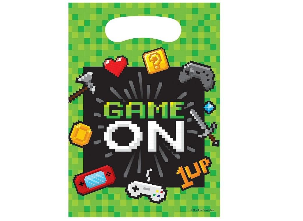 Gaming Party Loot Bags 8pk